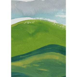 "Rob Delamater ""French Hillside Vii"" Gouache on Paper Landscape, 2017 2017 For Sale"
