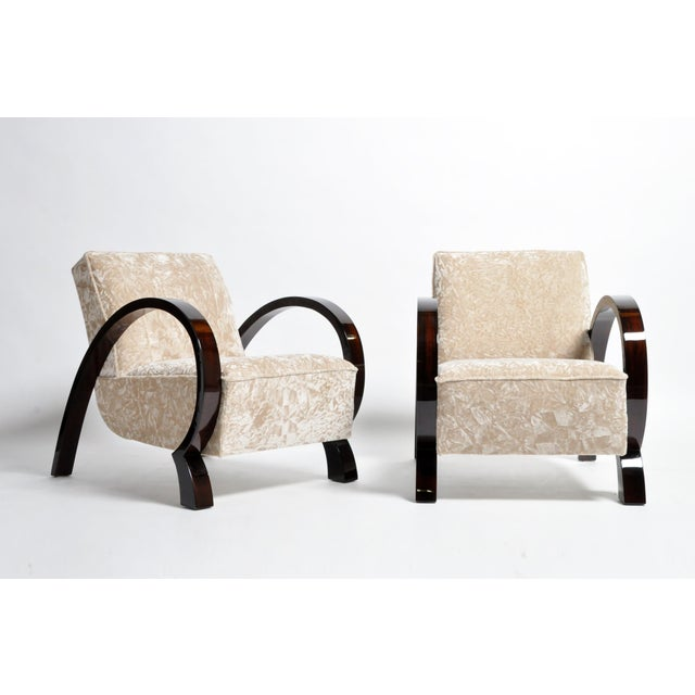 Danish Modern Hungarian Solid Walnut Armchairs - a Pair For Sale - Image 3 of 13