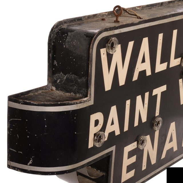 "Art Deco ""Wallpaper, Paint, Varnish, Enamel"" Neon Sign For Sale - Image 4 of 10"