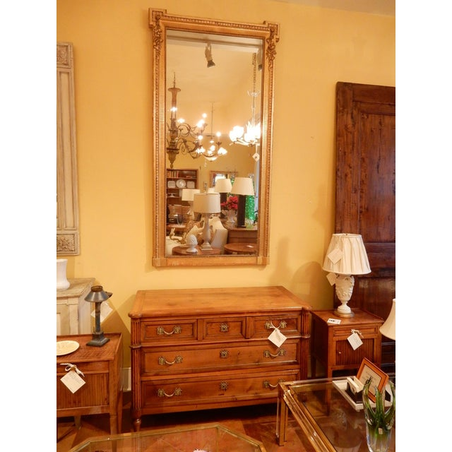 Wood 19th Century Louis XVI Gold Gilt Mirror For Sale - Image 7 of 8