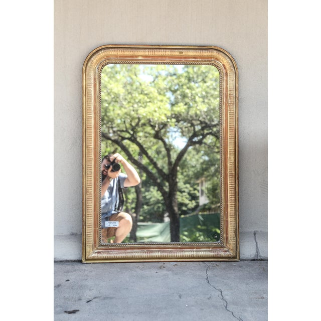 Gold 19th Century French Louis Philippe Beaded Gilt Frame Mirror For Sale - Image 8 of 11