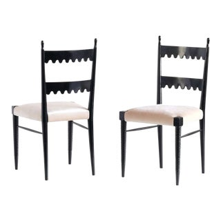 Vintage Mid Century Pier Luigi Colli Dining Chairs- Set of 5 For Sale