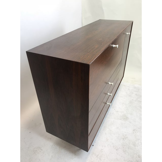 Mid-Century Modern George Nelson Herman Miller Rosewood Thin Edge Desk For Sale - Image 3 of 13