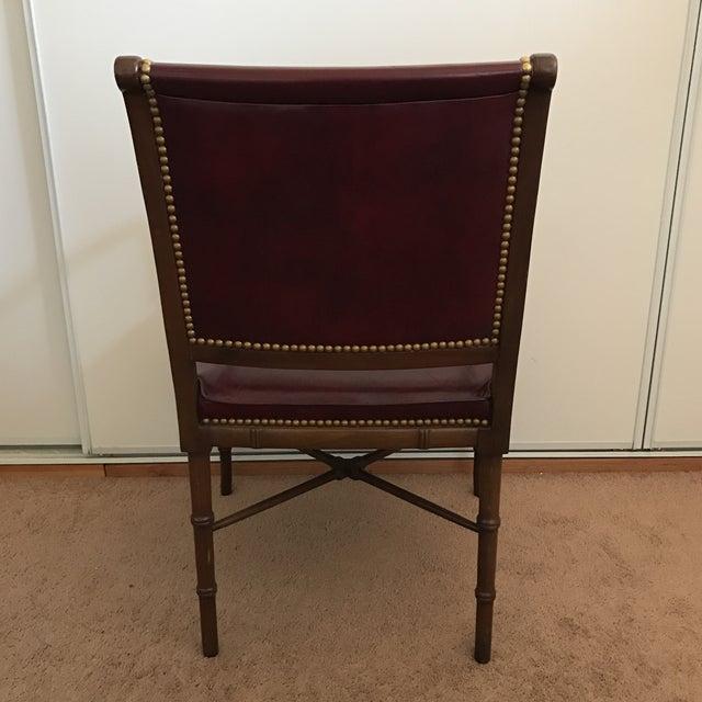 Cabot Wrenn Custom Burgundy Leather Chair - Image 8 of 10