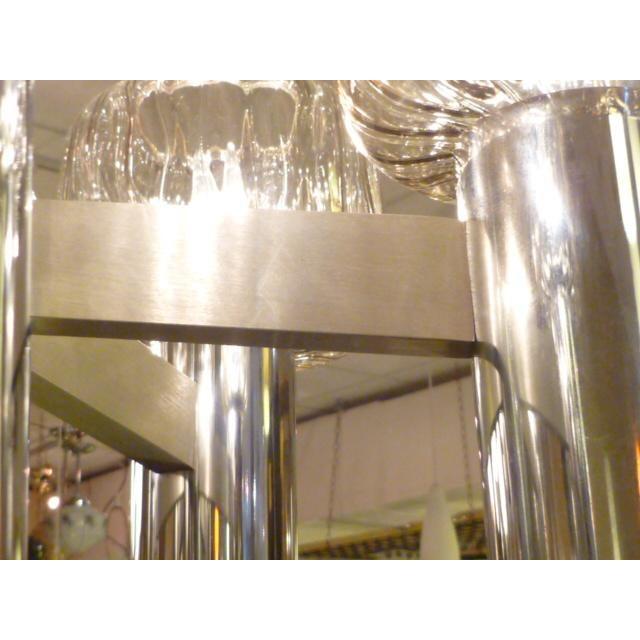 Exciting Five Globe Nickel Lightolier Mid Century Chandelier - Image 4 of 9