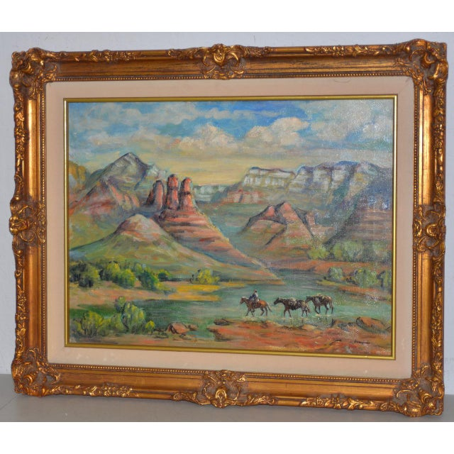 """Arizona Western Landscape """"near Flagstaff"""" Oil Painting by Francoise For Sale - Image 9 of 9"""