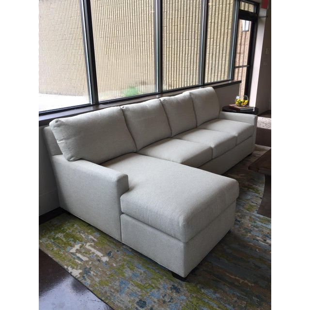Troy MI floor sample Two piece sectional Right arm facing sofa and a left arm facing chaise One-arm sofa W76 x D39 x H37...