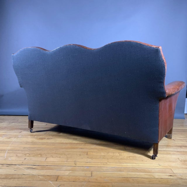 Cool 1930S Cognac Leather 3 Seat Sofa New Mohair Cushions Gmtry Best Dining Table And Chair Ideas Images Gmtryco