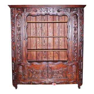 Late 18th Century French Brittany Oak Bookcase For Sale