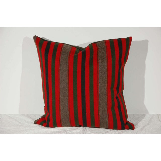 19th Century Wool Indian Blanket Pillows For Sale In Los Angeles - Image 6 of 6