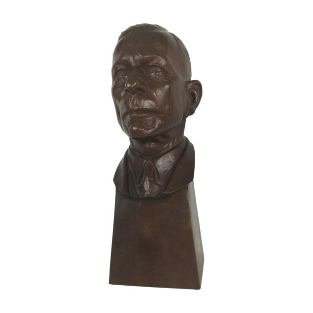"""Carl Mose Bronze """"Young King Henry"""" Bust For Sale"""