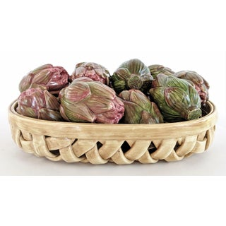 Jay Wilfred Div. Of Andrea Sadek Ceramic Basket With Artichokes Preview