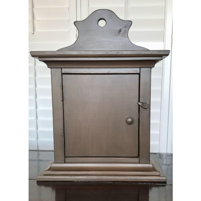 Taupe Wall Display Cabinet For Sale - Image 10 of 10