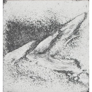 Black & White Abstract Expressionist Etching For Sale