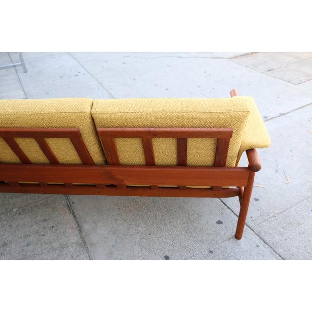 Yellow Mid Century Modern Mustard Sofa For Sale - Image 8 of 11