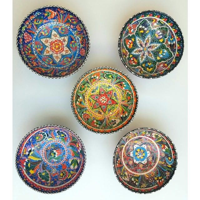 Turkish Anatolian Bowls - Set of 5 - Image 2 of 6