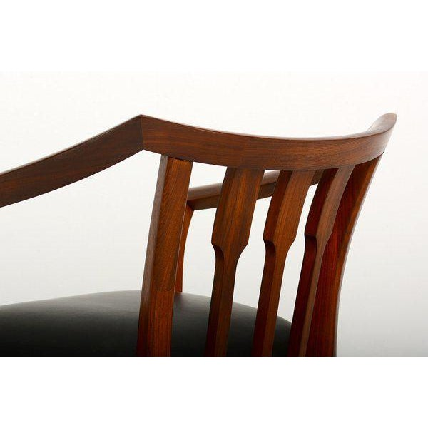 Mid-Century Modern Set of Four Custom Walnut Chairs For Sale - Image 4 of 7