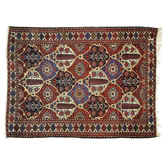 Textile Antique Persian Bakhtiari Rug with Four Seasons Garden Design For Sale - Image 7 of 8