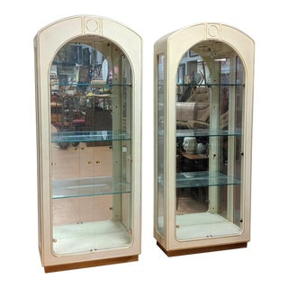 Mid Century Master-Craft Display Cabinets-a Pair For Sale