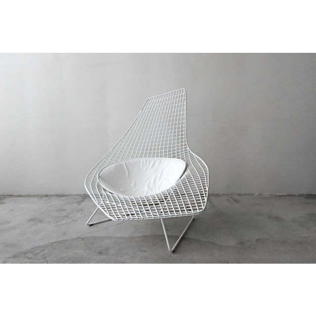 Contemporary Authentic Knoll Bertoia Asymmetric Chaise For Sale - Image 3 of 8