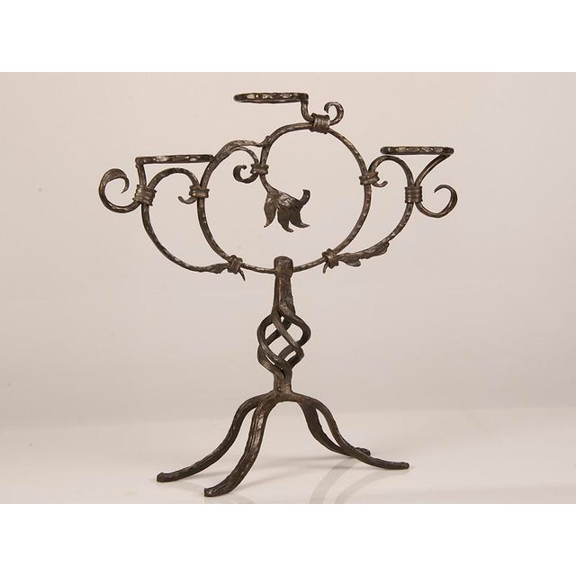 Antique French Hand-Forged Iron Plant Stand circa 1870 - Image 2 of 9
