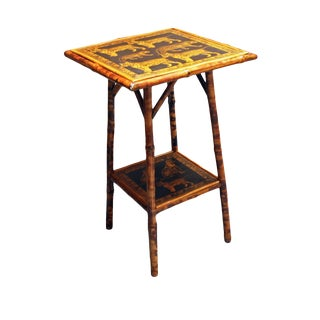 1880s Traditional 2-Tier Bamboo Side Table