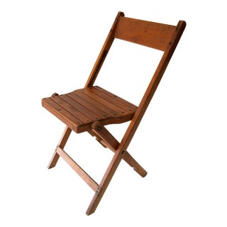 Vintage Wood Folding Deck Chair
