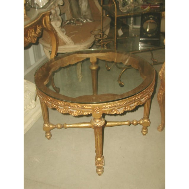 French 19th C. Hand Carved Gilt Coffee Table - Image 10 of 10