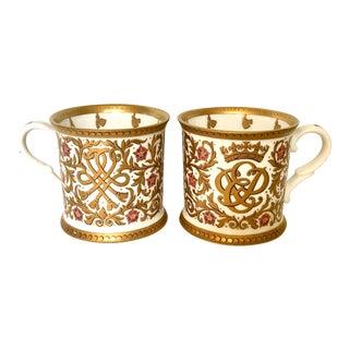 Pair of British Royal Mugs For Sale