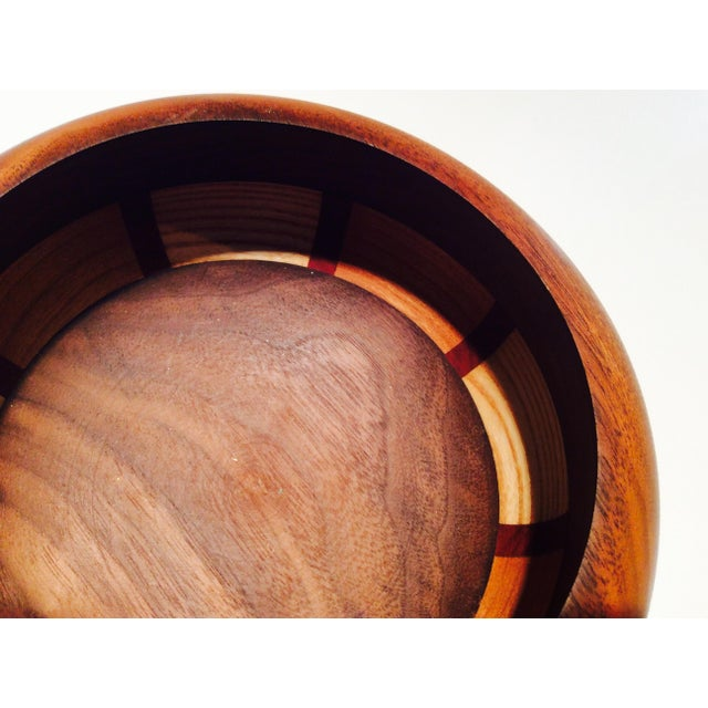 Mid-Century Style Wood Bowl - Image 3 of 9