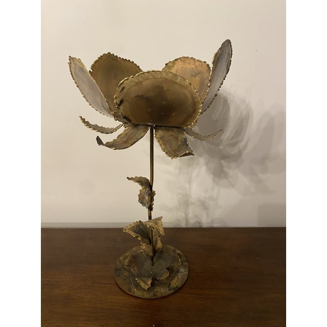 Vintage Mid-Century Friedle Style Torch Cut Floral Sculpture For Sale - Image 12 of 13