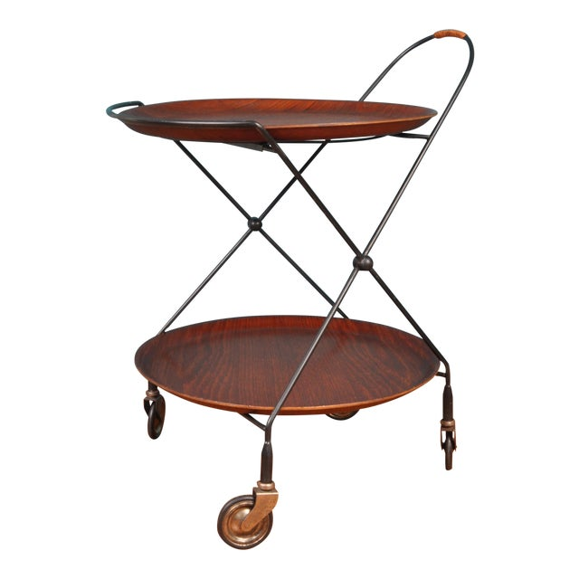 Collapsible Bar Cart, Sweden 1950s For Sale