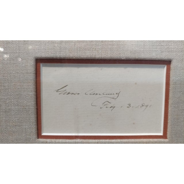 Grover Cleveland -22nd & 24th US President - Original Signature with Photograph-1891 For Sale - Image 5 of 7