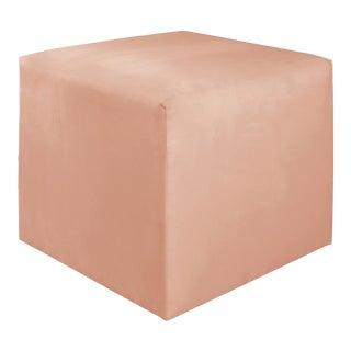 Titan Pink Champagne Cube Ottoman For Sale