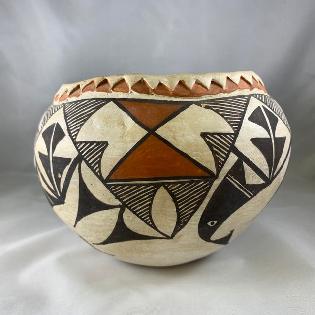 Mid 20th Century Southwestern Acoma Olla Polychrome Pottery For Sale - Image 5 of 11