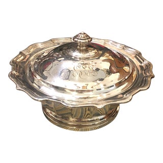 Antique Frank W Smith Chippendale Sterling Silver Sauce Tureen For Sale