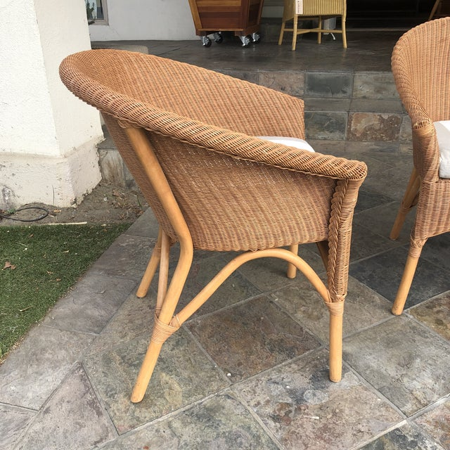 Palecek Palecek Rattan Bistro Chairs - Set of 3 For Sale - Image 4 of 9
