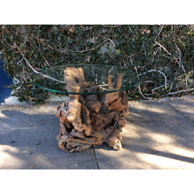 Mid-Century Modern Vintage Driftwood Side Table For Sale - Image 3 of 6