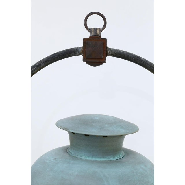 Large Copper French Lantern For Sale - Image 4 of 11