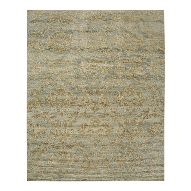 Contemporary Mandala Collection - Customizable Gold Leaf Rug (9x12) For Sale - Image 3 of 3