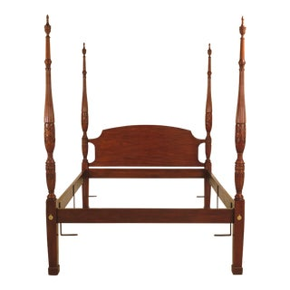 Henkel Harris Queen Size Carved Mahogany Poster Bed