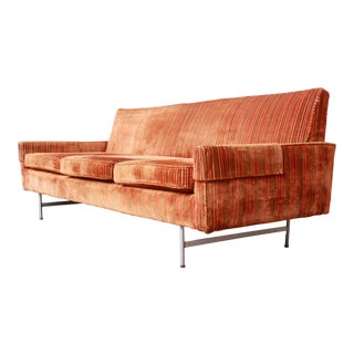 Original Paul McCobb Linear Group Sofa on Brass Legs, 1960s For Sale