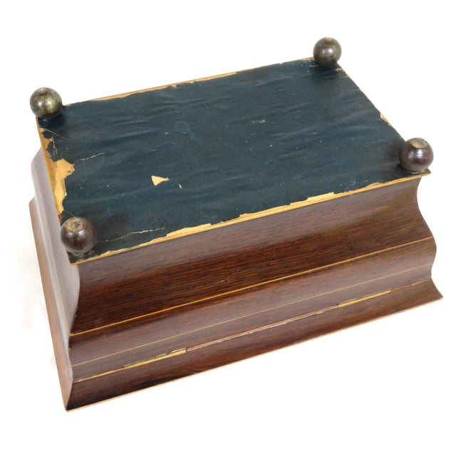19th Century Victorian Rosewood Marquetry Sewing Box For Sale - Image 9 of 13