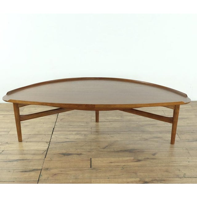Baker Furniture Company Mid-Century Modern Finn Juhl Teak Coffee Table For Sale - Image 4 of 10