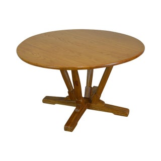 Brandt Ranch Oak Round Poker or Dining Table For Sale