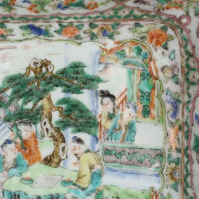 Antique Chinese Export Porcelain Famille Verte Bowl For Sale In Philadelphia - Image 6 of 13