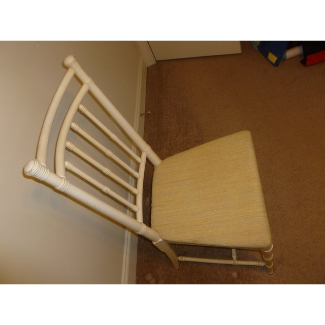 1970s Vintage MCM Mid Century Bamboo Solid Wood Modern Drexel Chair Lacquered 1970's Quality Made For Sale - Image 5 of 6