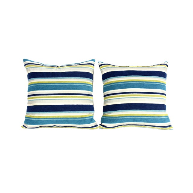 Contemporary Italian Silk Velvet Pillows - a Pair For Sale - Image 3 of 7