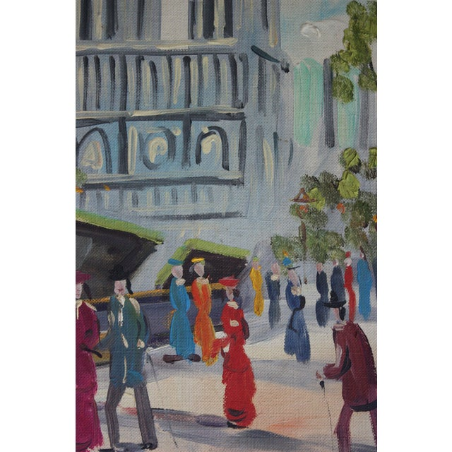 French Mid-Century Oil Painting - Image 4 of 5