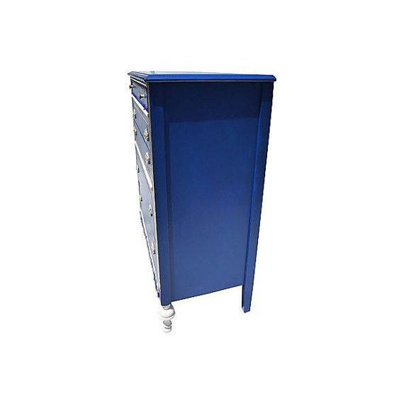 Antique Blue and Red Painted Dresser - Image 5 of 7